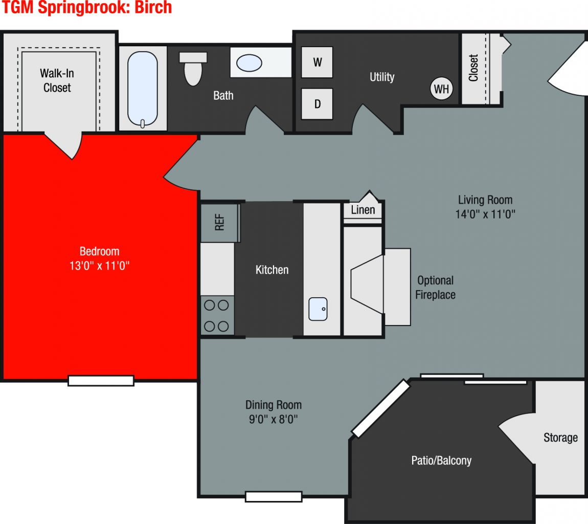 Apartments For Rent TGM Springbrook - Birch