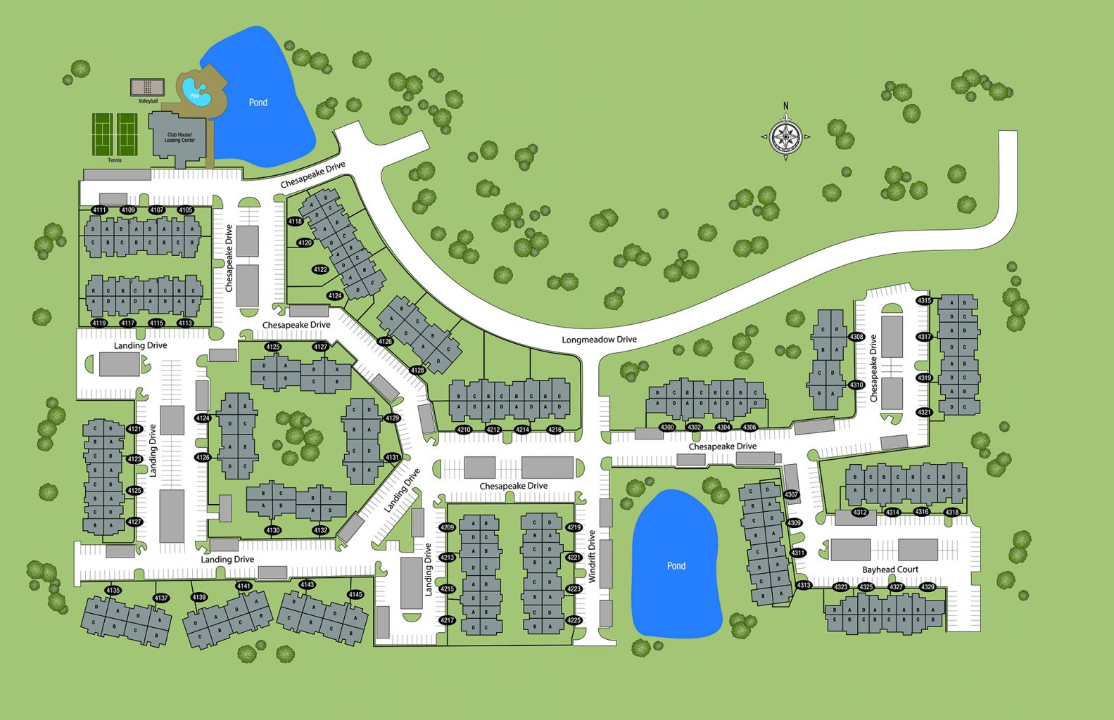 TGM Springbrook Apartments Map
